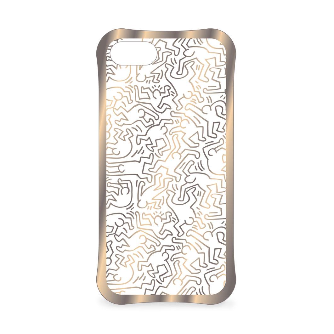 <MoMA> キース・ヘリング: iPhone 7 ケース People ゴールド/クリア