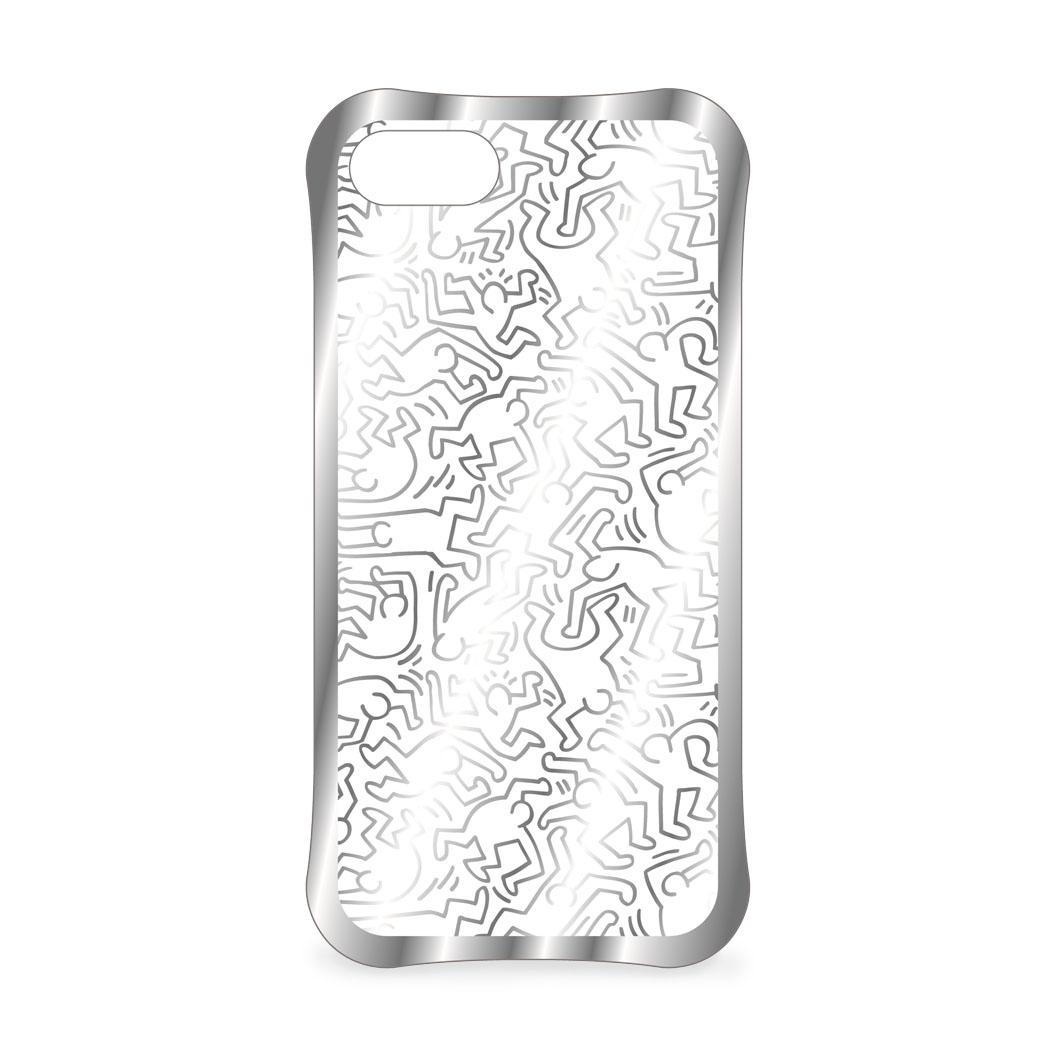 <MoMA> キース・ヘリング: iPhone 7 ケース People シルバー/クリア