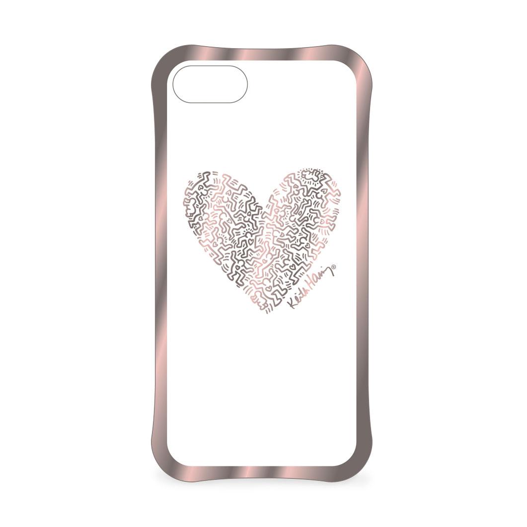 <MoMA> キース・ヘリング: iPhone 7 ケース Heart ローズゴールド/クリア