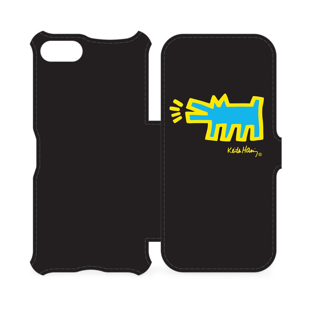 <MoMA> キース・ヘリング: iPhone 7 フリップカバー Dog ブラック