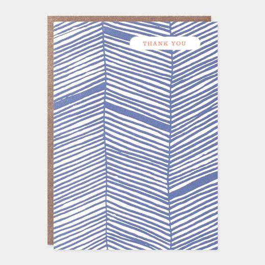 メッセージカード サンクス ヘリンボーンの商品画像