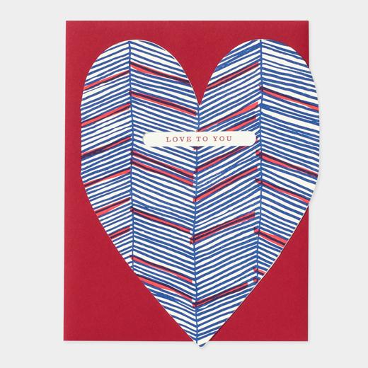 メッセージカード LOVE TO YOU HEARTの商品画像