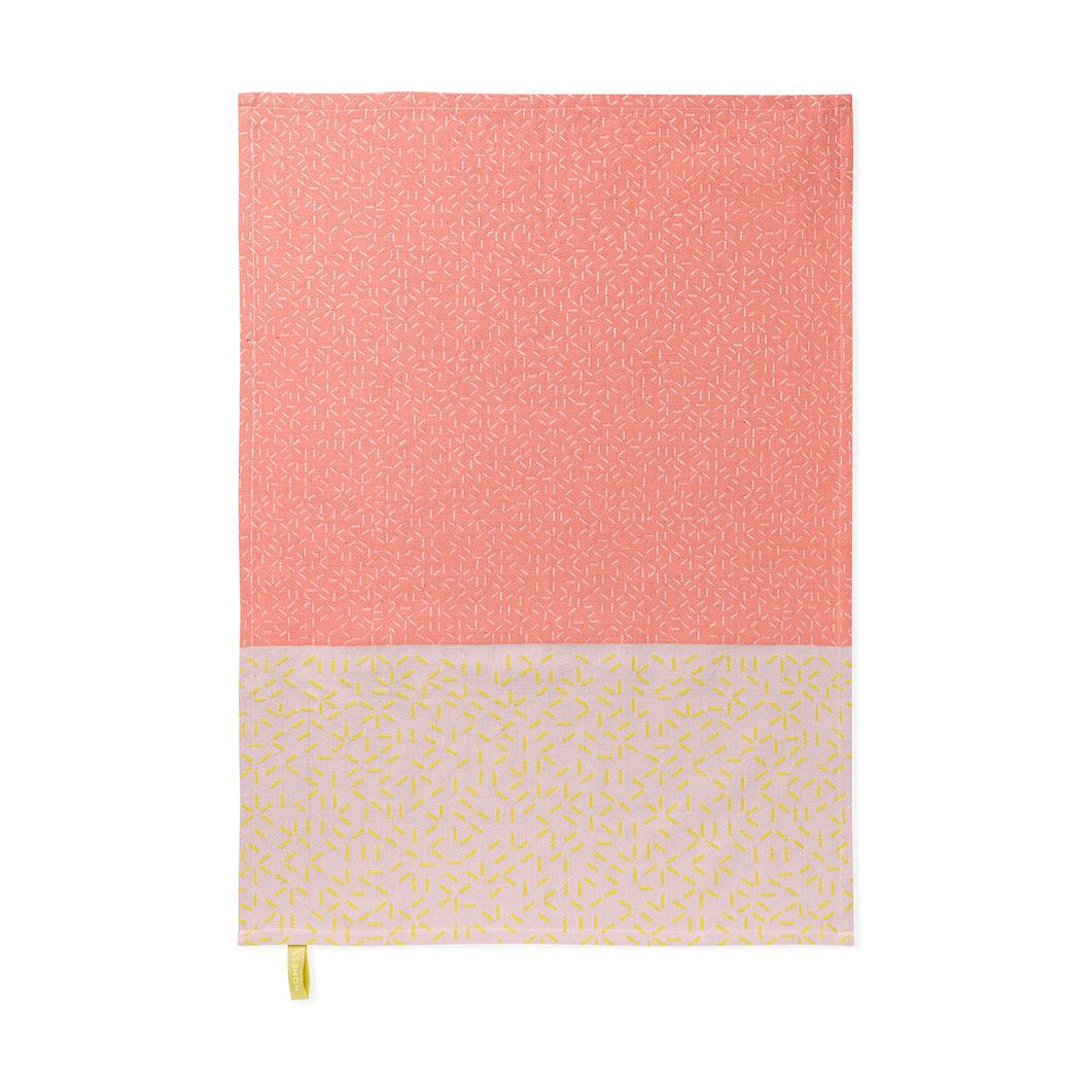 スプラッシュ ティータオル ピンク/イエロー(2枚セット)の商品画像