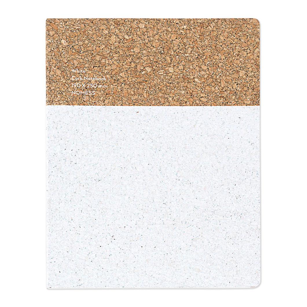 コルクノートブック L ホワイトの商品画像