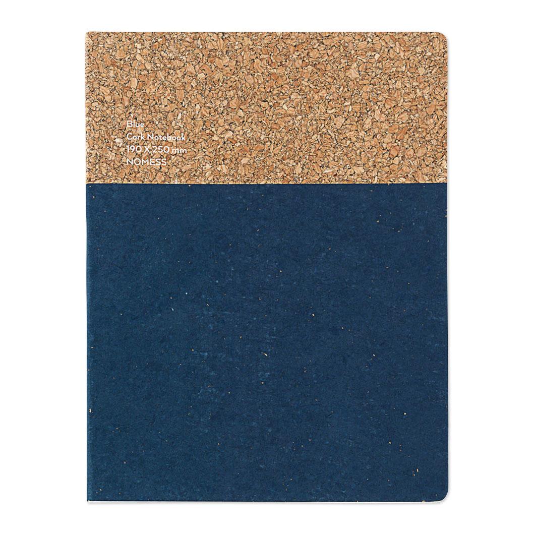 コルクノートブック L ブルーの商品画像