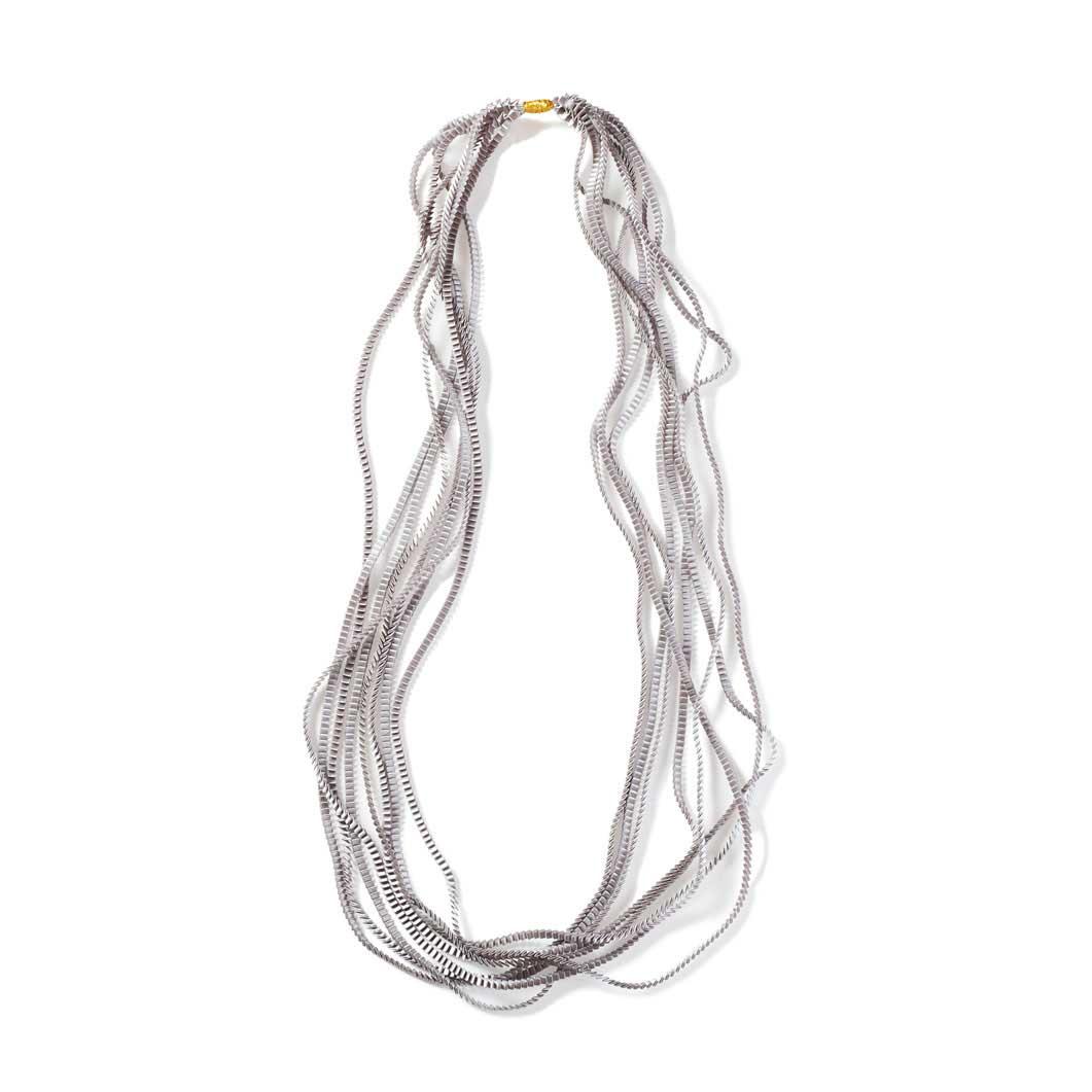 プリーツ ネックレス シルバーの商品画像
