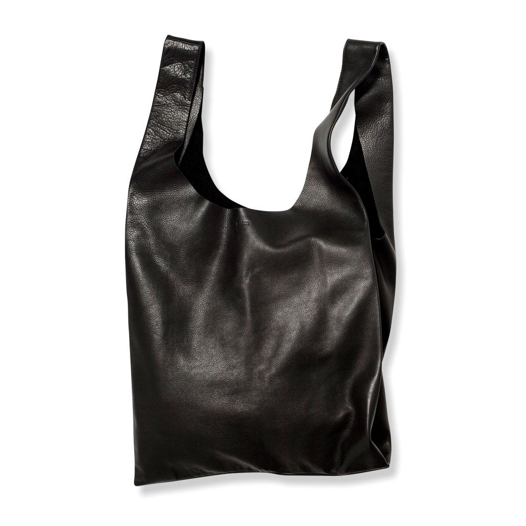 <MoMA> BAGGU レザーバッグ ブラック