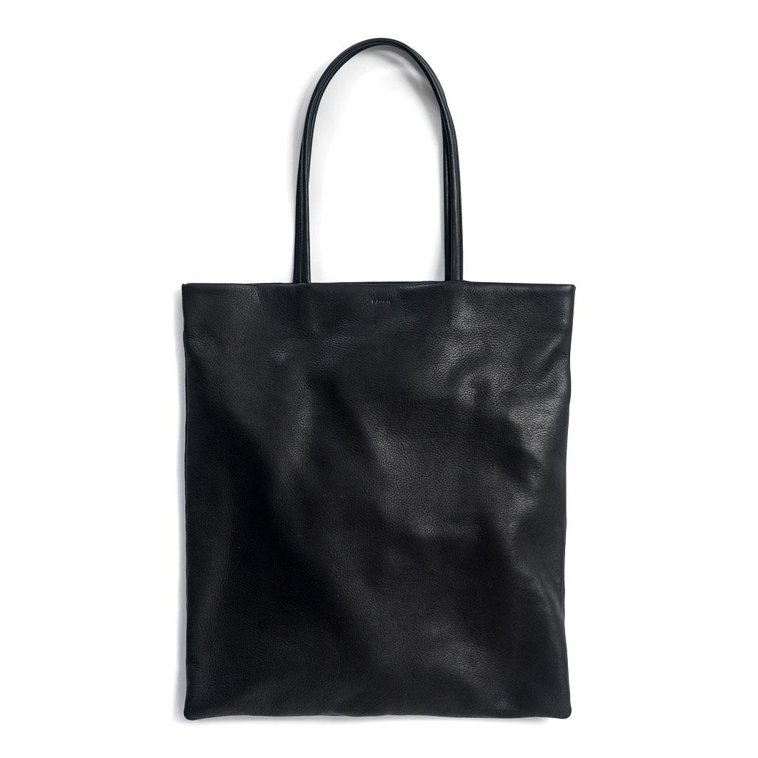 BAGGU レザー フラットトート ブラックの商品画像
