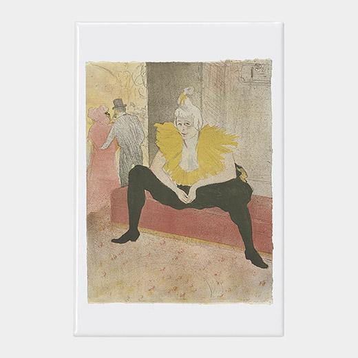 ロートレック:Seated Clowness マグネットの商品画像