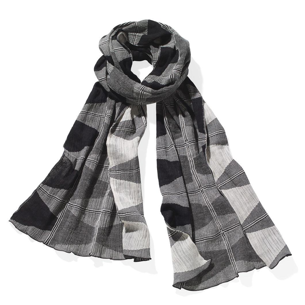 三角コーン スカーフ ホワイト/ブラックの商品画像