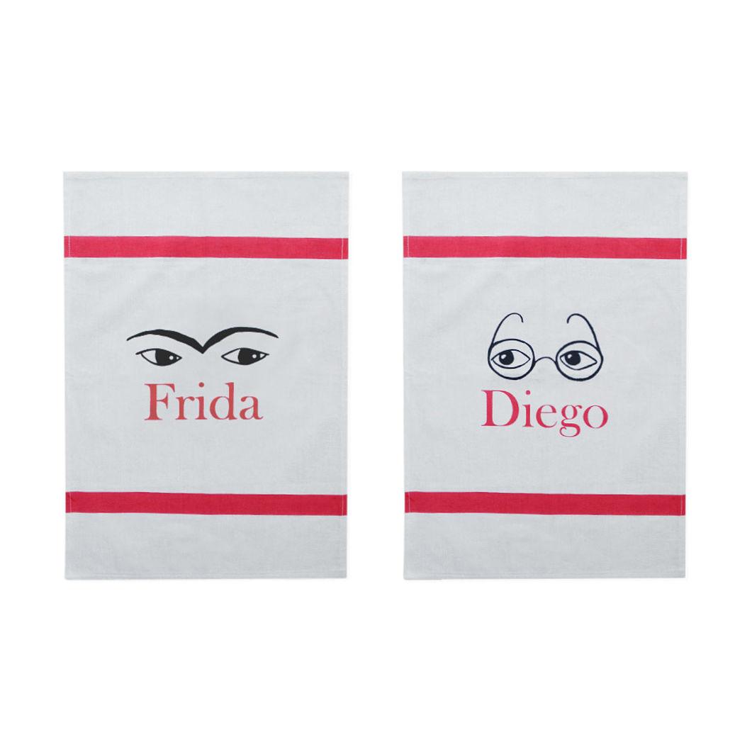 フリーダとディエゴ ティータオル(2枚セット)の商品画像
