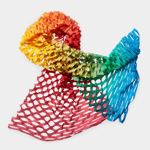 TANABATA 羽二重スカーフ ドルチェ レインボーの商品画像