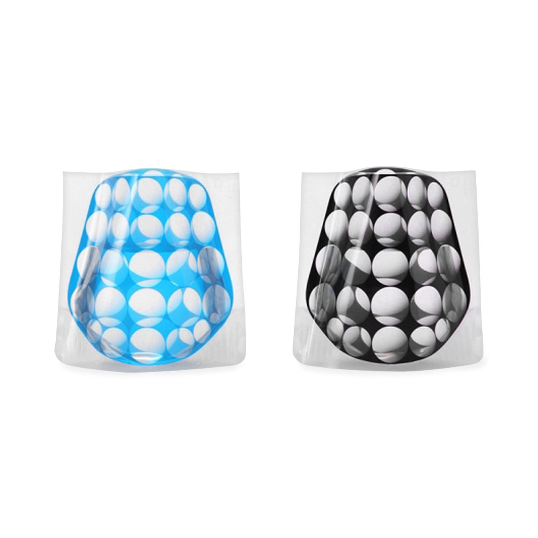 D?BROS フラワーベース ミニ ブルー&ブラックの商品画像
