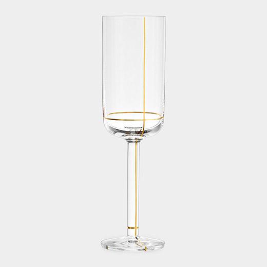 HAY Colour シャンパングラス ゴールドラインの商品画像