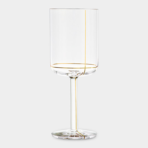 HAY Colour レッドワイングラス ゴールドラインの商品画像