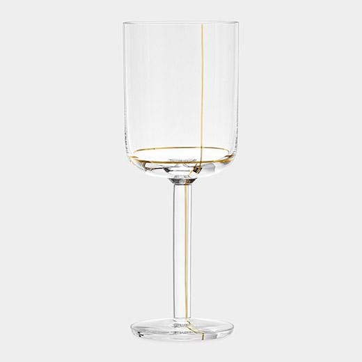 HAY Colour ホワイトワイングラス ゴールドラインの商品画像