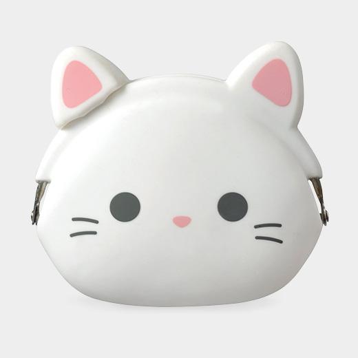 mini POCHI シリコン がまぐち ミルクネコの商品画像