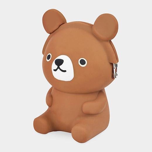 3D POCHI シリコン がまぐち クマの商品画像