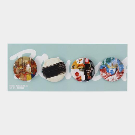 ラウシェンバーグ:缶バッジ(4個セット)の商品画像
