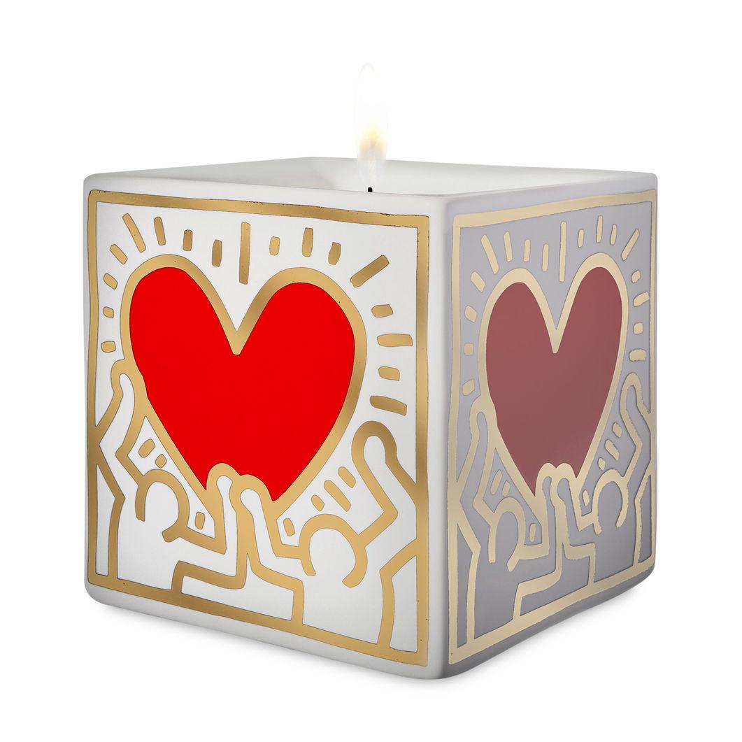 <MoMA> キース・ヘリング:スクエア キャンドル Red Heart