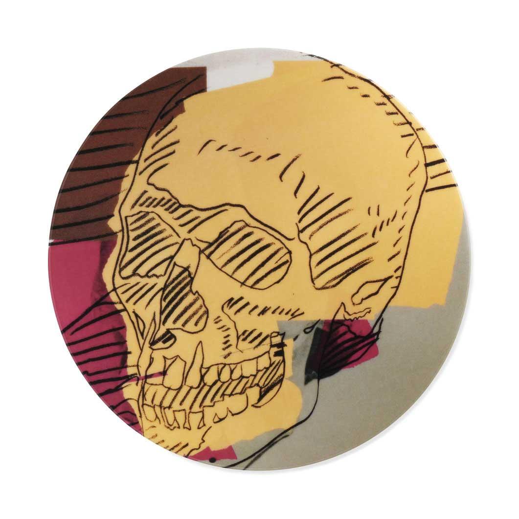 ウォーホル:Skull インテリアプレート ベージュの商品画像