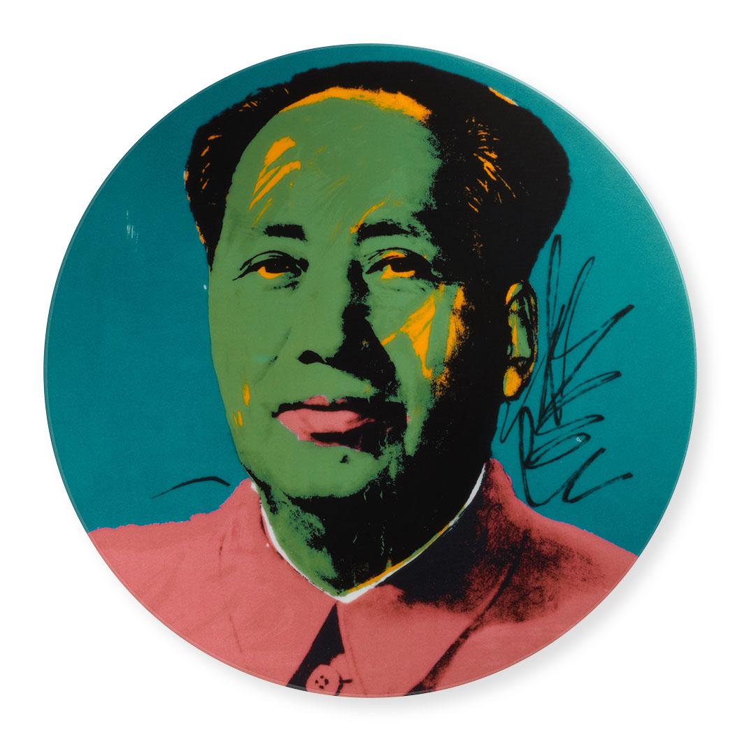 ウォーホル:毛沢東 インテリアプレート ピンクの商品画像