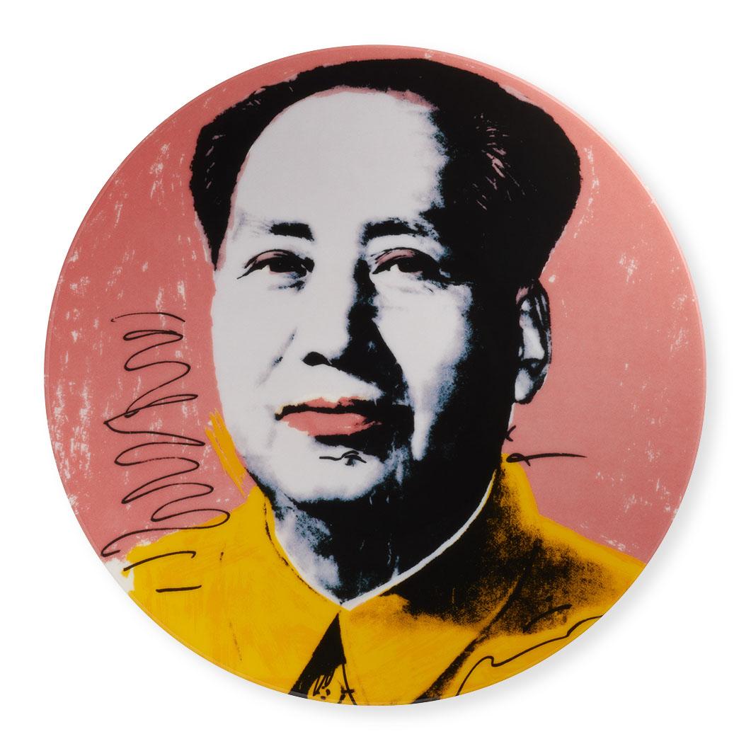 ウォーホル:毛沢東 インテリアプレート イエローの商品画像