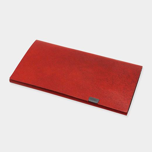 オリガミ ウォレット ロング レッド/シルバーの商品画像