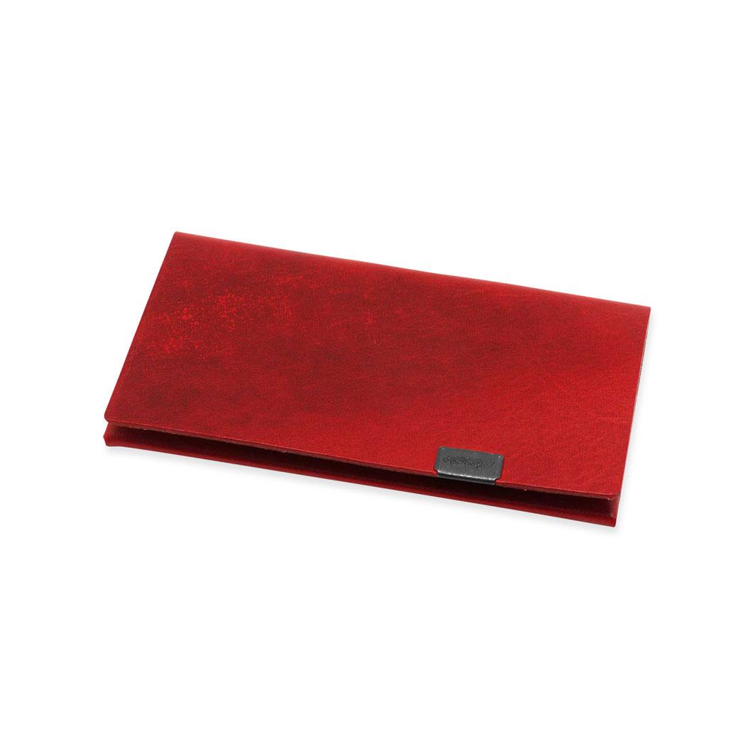 オリガミ カードケース レッド/シルバー