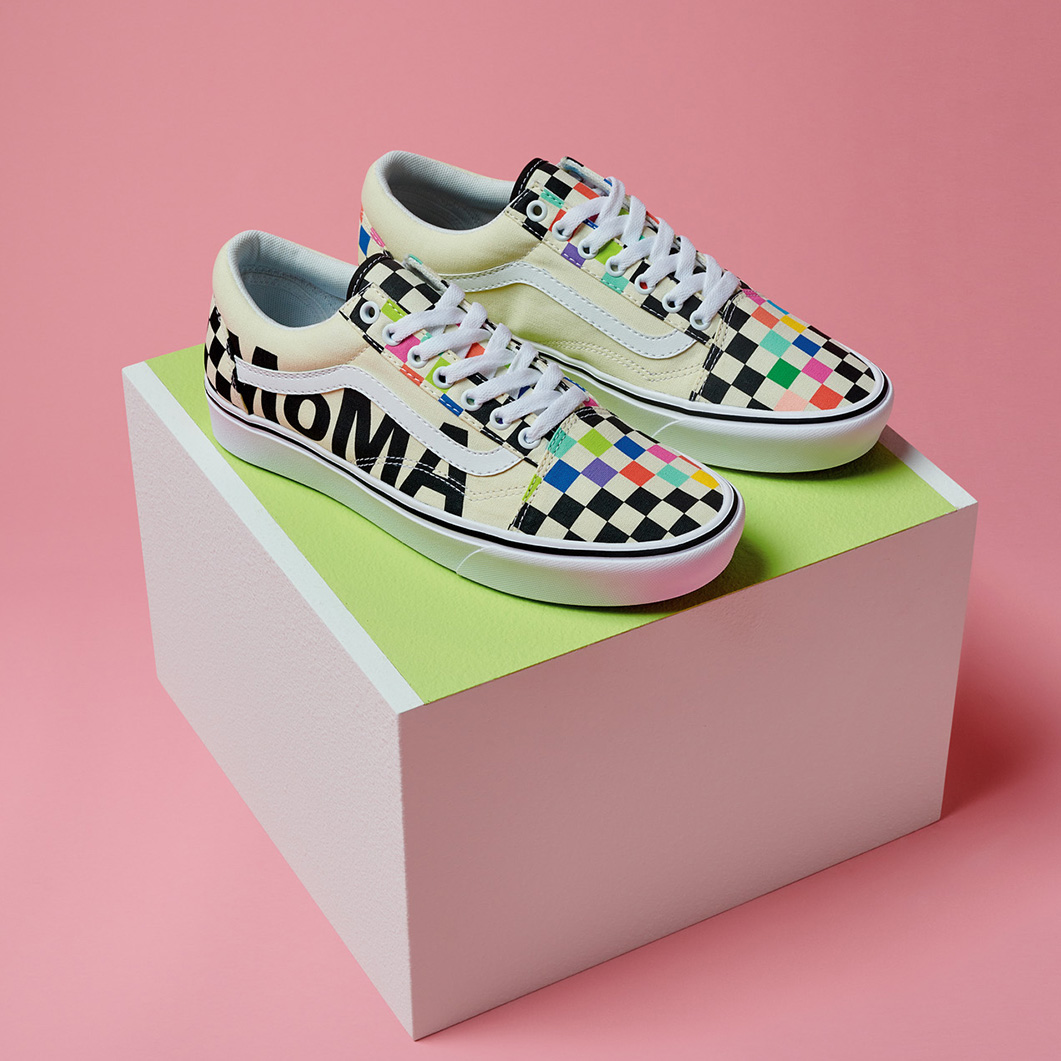 VANS and MoMA コンフィクッシュ オールドスクール MoMA Unisex 26.5cm