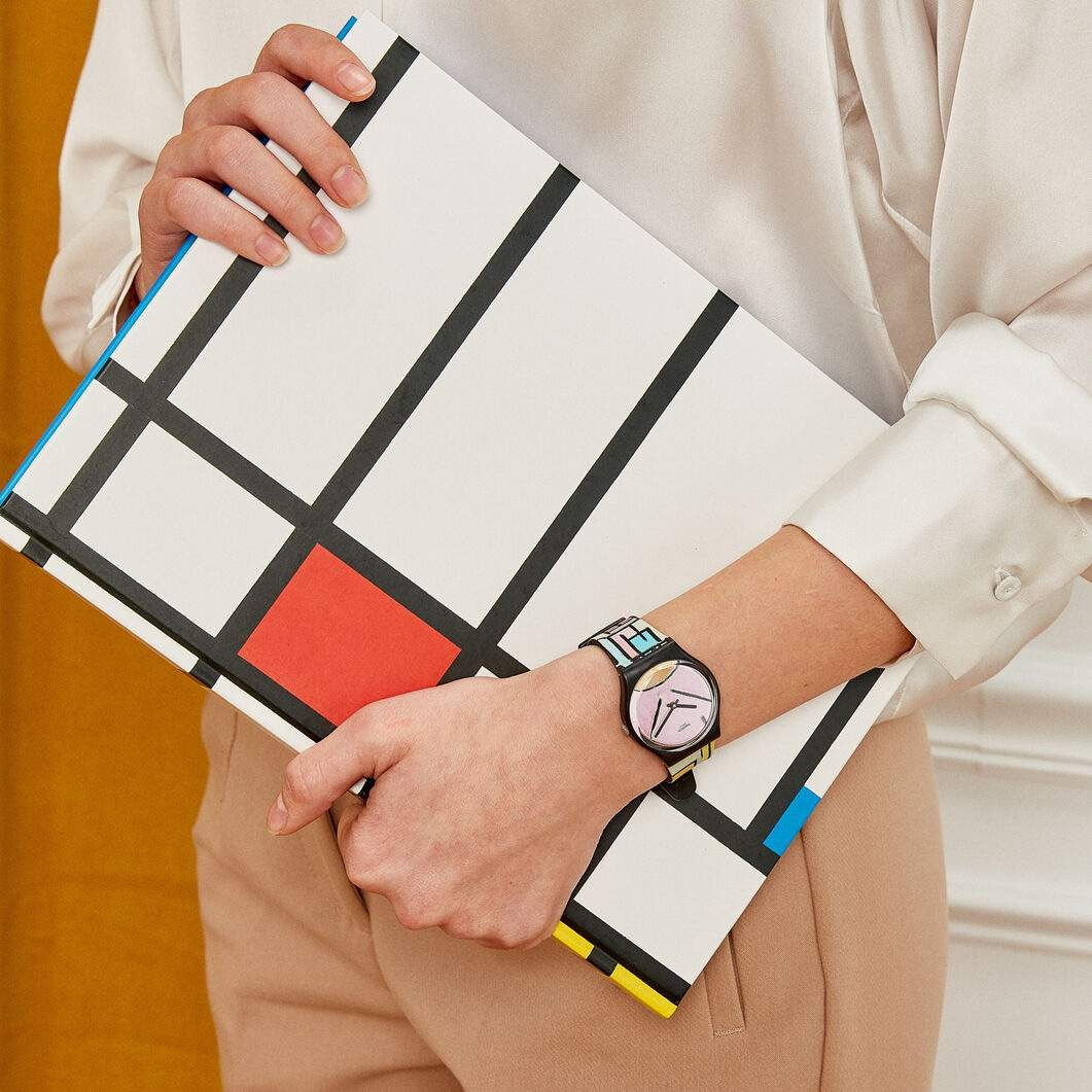 Swatch×MoMA ウォッチ モンドリアン/Composition in Oval with Color Planes 1