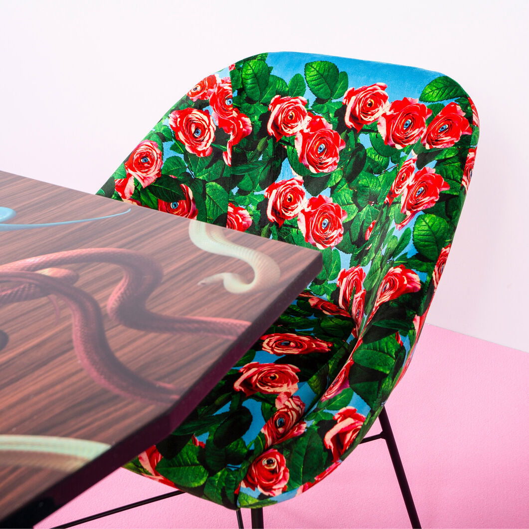 Seletti Wears Toiletpaper パッドチェア Roses