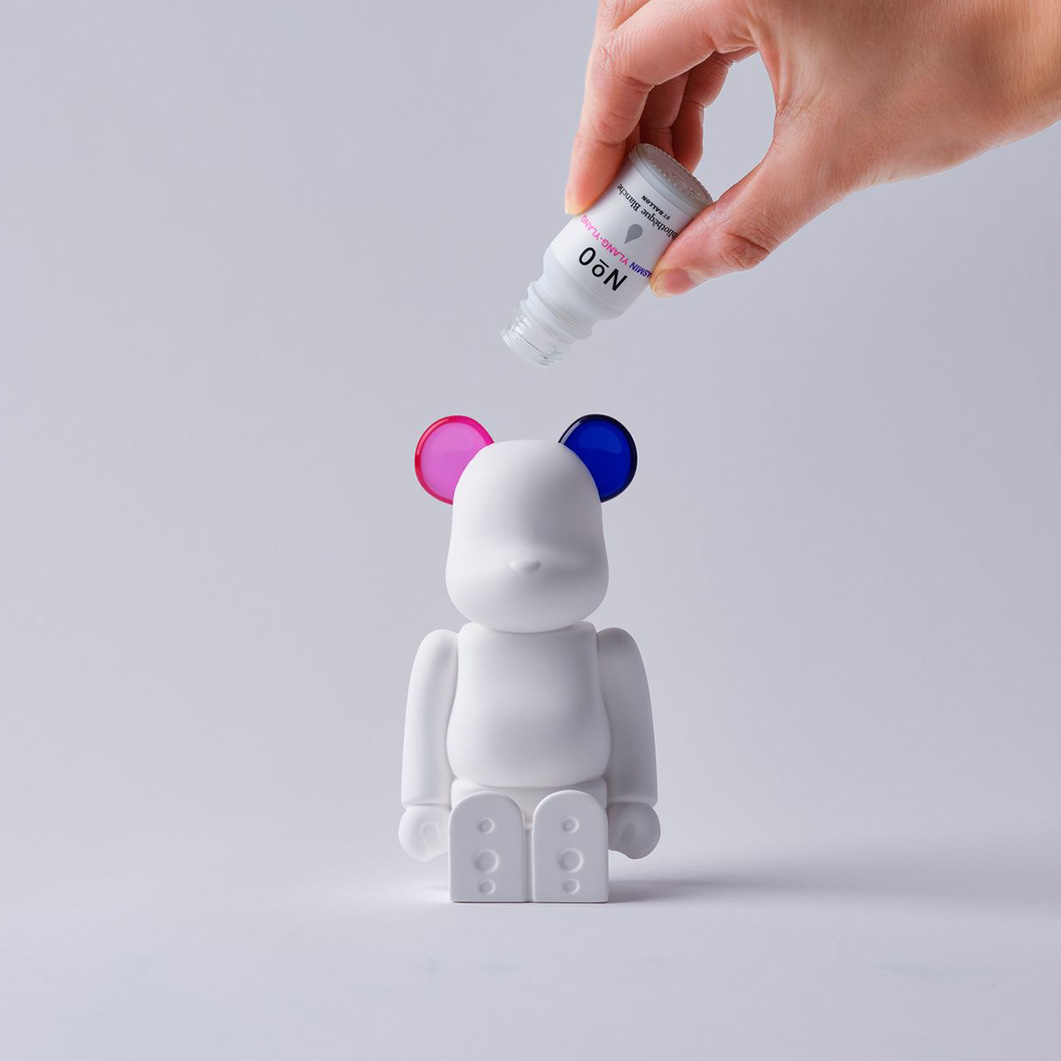BE@RBRICK AROMA ORNAMENT No.0 COLOR W‐DOUBLE‐ PINK PURPLE