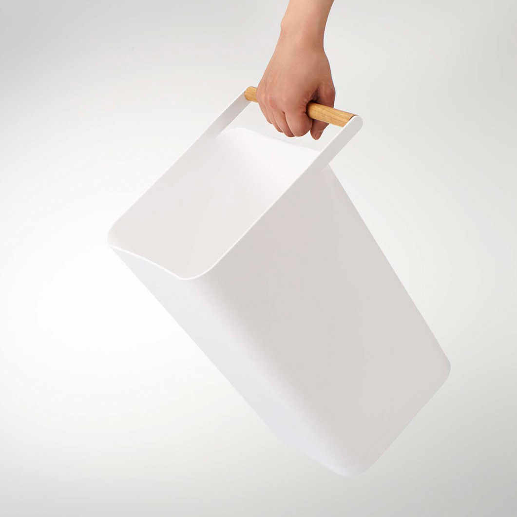 ゴミ箱 MOMA 持ち運び 取っ手付き トラッシュコモホワイト