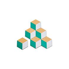 テーブル タイル コースター グリーン(6枚セット)の商品画像
