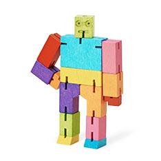 マイクロ キューボット ウッドトイ マルチカラーの商品画像