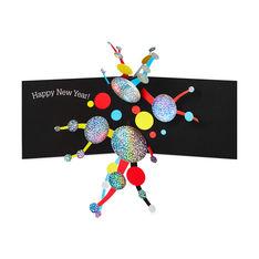 MoMA クリスマスカード ニューイヤー ドット (8枚セット)の商品画像