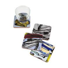 MoMA リキテンスタイン コースター Brushstroke(4枚セット)の商品画像