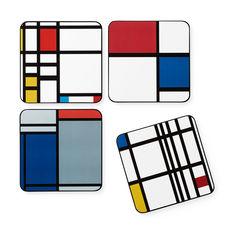 MoMA モンドリアン コースター(4枚セット)の商品画像