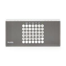 MoMA アクリル万年カレンダー グレーの商品画像