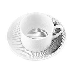 ザハ・ハディド:イリュージョン カップ&ソーサー(2客セット)の商品画像