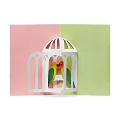 MoMA ポップアップカード メロディアスバード(1枚)の商品画像