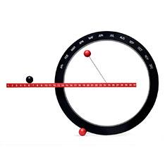 MoMA パーペチュアルカレンダー レッド/ブラックの商品画像