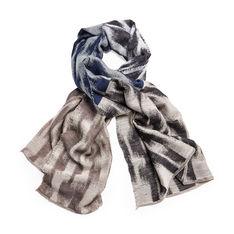 L'Automne スカーフ ブラック/グレーの商品画像