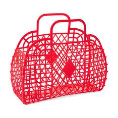 レトロ バスケット バッグ レッドの商品画像