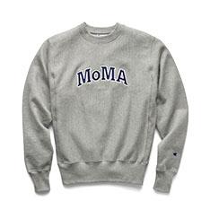 Champion クルーネックスウェットシャツ MoMA Edition S グレーの商品画像