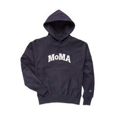 Champion フーディー MoMA Edition L ネイビーの商品画像