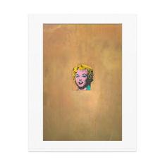 ウォーホル:Gold Marilyn Monroe マット付ポスターの商品画像