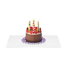 MoMA ポップアップカード ポップアップケーキ(1枚)の商品画像