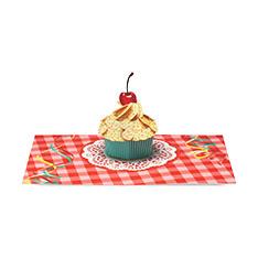 MoMA ポップアップカード ギンガムカップケーキ(1枚)の商品画像